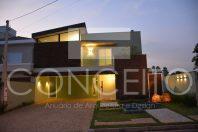 arquitetos em campinas fachada casa moderna condomínio escritório arquitetura Valinhos