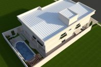 Projeto planta casa Fachada clássica sobrado arquitetos em campinas alphaville terreno 12×30