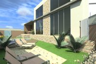 projeto 180m2 planta arquitetura moderna terreno esquina 12×30 garagem canto arquiteta campinas sp