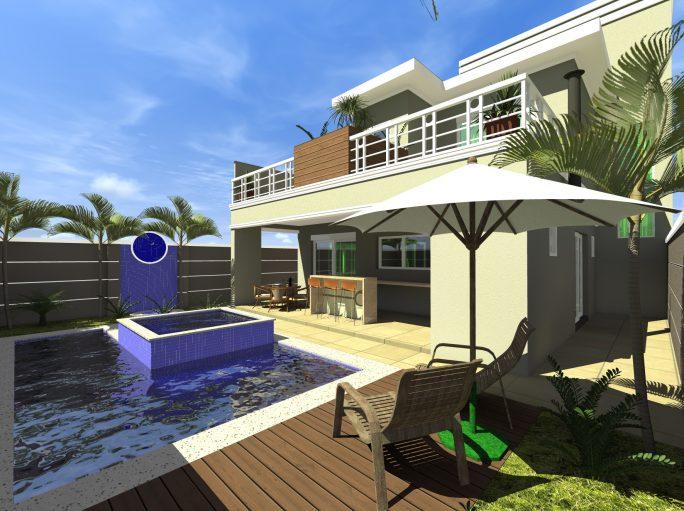 projeto 220 metros sobrado terreno 12x25 arquitetura clássica telhado shingle arquiteto limeira condomínio margarida holstein piscina