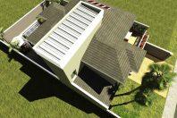 projeto 220 metros sobrado terreno 12×25 arquitetura clássica telhado shingle arquiteto limeira condomínio margarida holstein