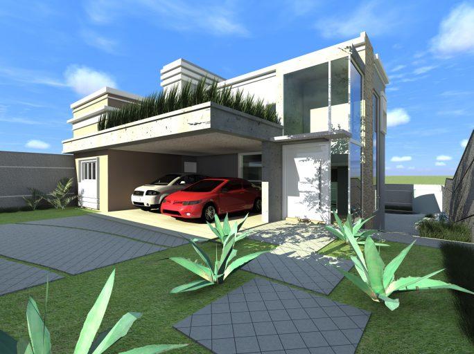 projeto 240 metros terreno declive campinas barão geraldo arquitetas design arquitetura moderna fachada reta vidro muro calçada