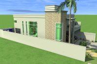 Projeto Casa Neoclássica Sobrado Terreno Plano 12×30 Condomínio Tripoli Americana SP