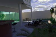 Projeto Casa Sobrado Planta 2 pavimentos em terreno de 250m2 plano de 10×25 arquiteto em Limeira