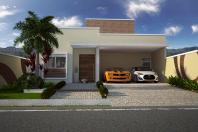 Projeto Casa Térrea Fachada Moderna Reta Telhado Embutido Arquiteto Piracicaba