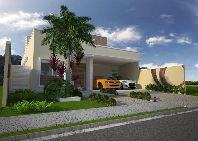 Projetos de casas t rreas em terreno 12x25 em limeira e for Casa moderna 60 m2
