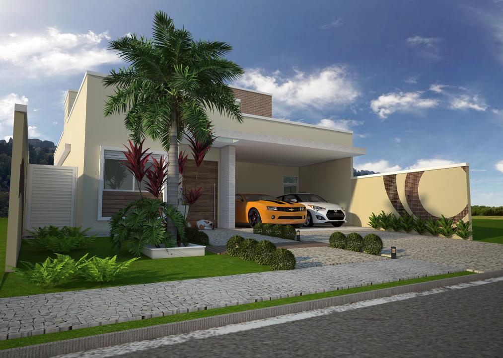 Projeto casa t rrea condominio terreno 10x25 200 metros for Casa moderna 140 m2