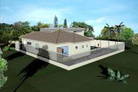 Projeto casa térrea condomínio casal buono limeira garagem subsolo arquiteto limeira telhado cerâmica clara terreno 20×25