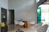 Projeto de Arquitetura de Interiores Estilo Novo Rustico Chic Casa Térrea com Mezanino Pé Direito Alto Lazer Integrado