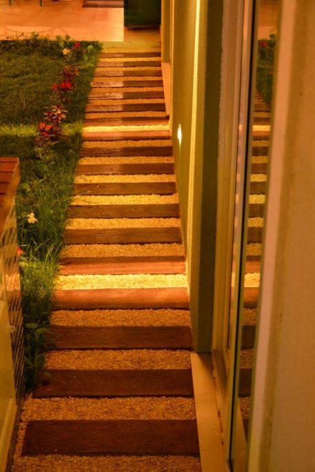 projeto iluminação residencial decorativo casa lustre arquiteto caio pelisson Arandelas Jardim paisagismo balizador caminho