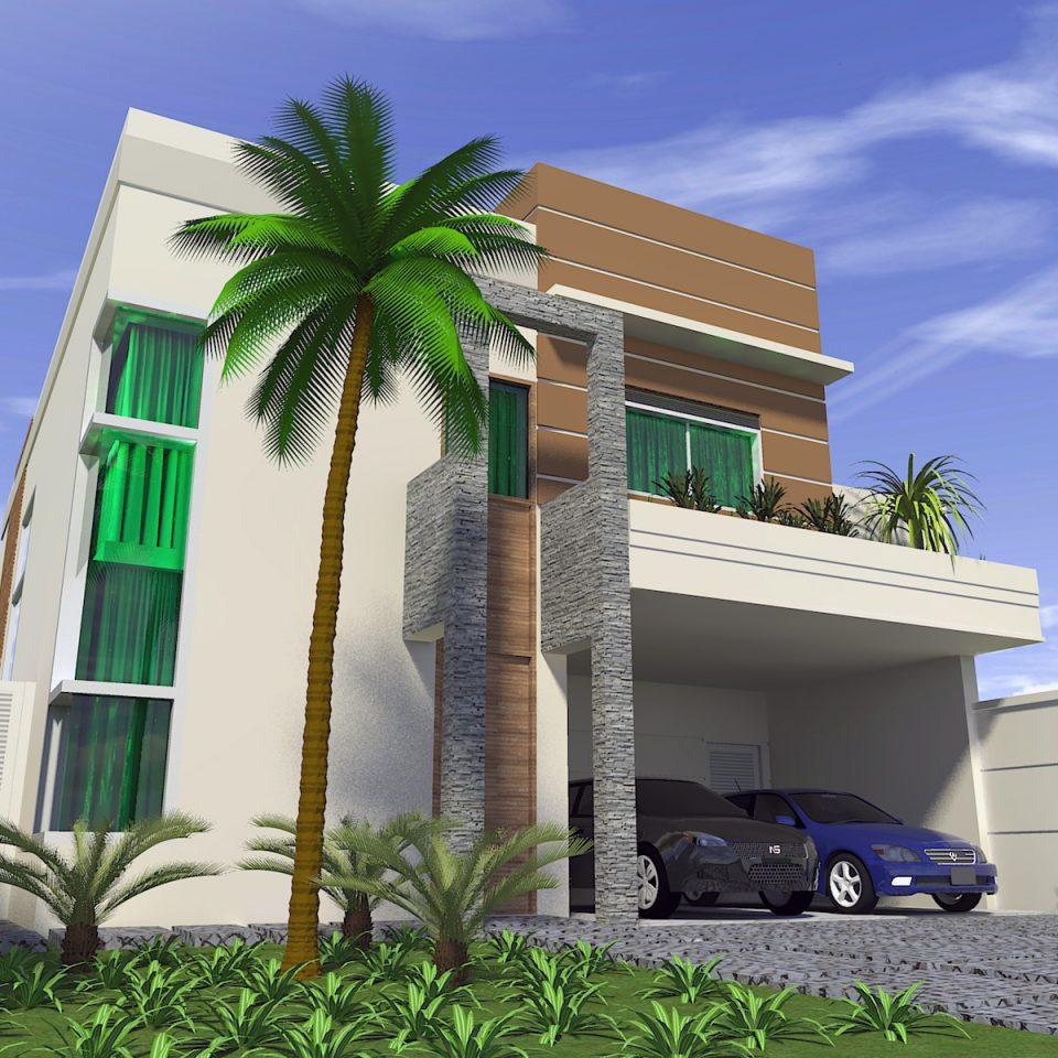 Projetos de casas com arquitetura moderna e contempor nea for Casa moderna 10 x 20