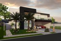 projeto planta casa sobrado fachada moderna terreno plano 20×25 condominio ilha di bali limeira 03 suítes