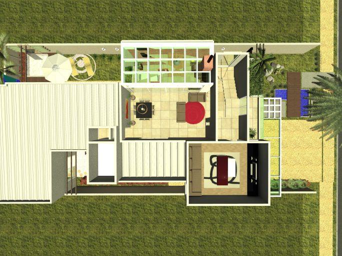 projeto casa térrea com mezanino em arquitetura moderna condomínio margarida de holstein em Limeira projeto do Arquiteto Caio Pelisson Arquitetura e Interiores Telhado Embutido