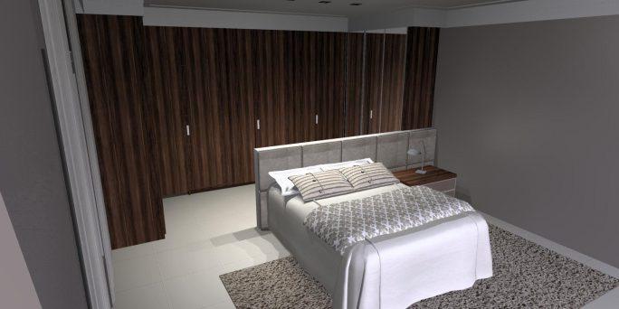 projetos arquitetura interiores design moveis pisos gesso decoração casa neoclássica americana quarto casal com closet