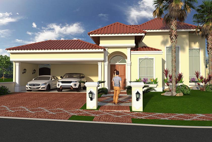 Projetos de casas cl ssicas com estilo americano em for Casa modelo americano