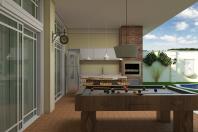 Projeto Casa Clássica Térrea em Terreno de Esquina Condomínio Fechado