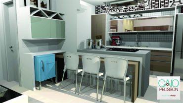 Projeto de Arquitetura de interiores e Design de Apartamento de 100m2