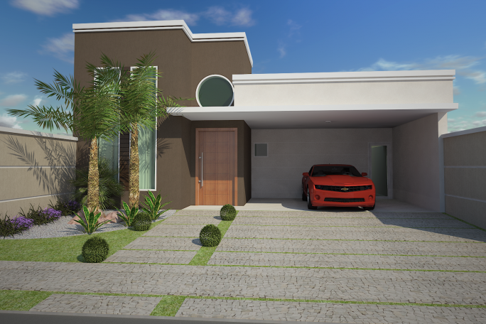 Projetos de casas t rreas em condom nio arquitetura for Casas modernas redondas