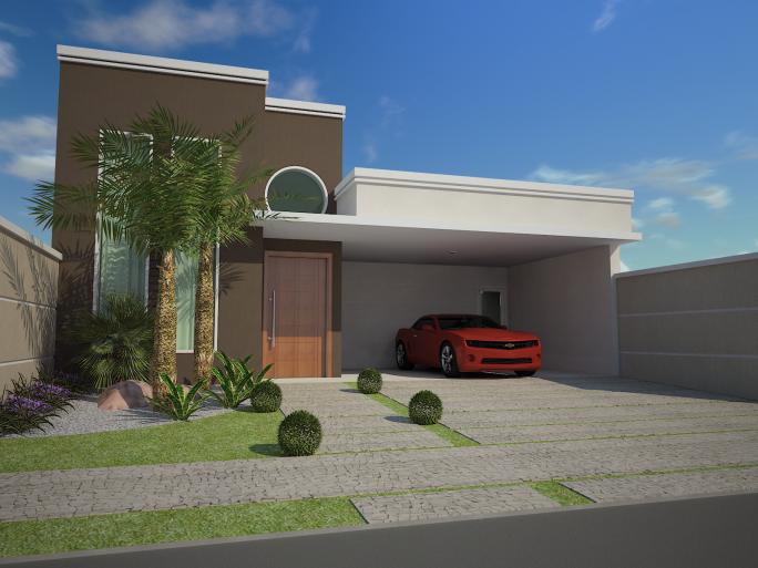 Projetos de casas t rreas em terreno 12 25 arquiteto caio for Casas contemporaneas modernas