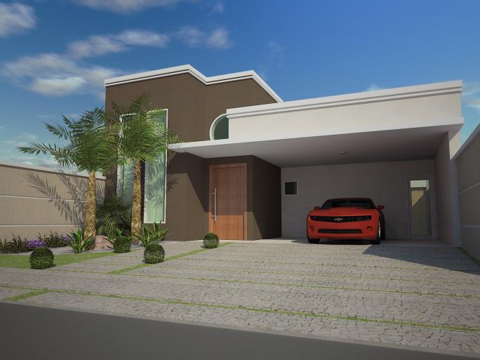 Telhados de casas terreas piso que imita madeira with for Casas modernas redondas