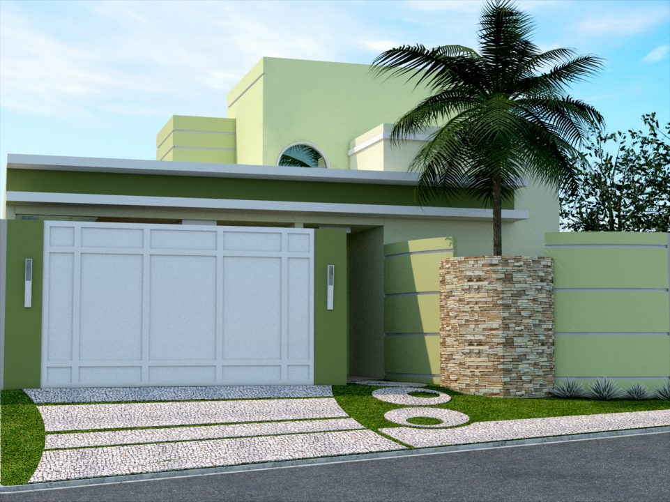 Fachadas de casas simples com muro fotos de fachadas for Decoracion muros exteriores