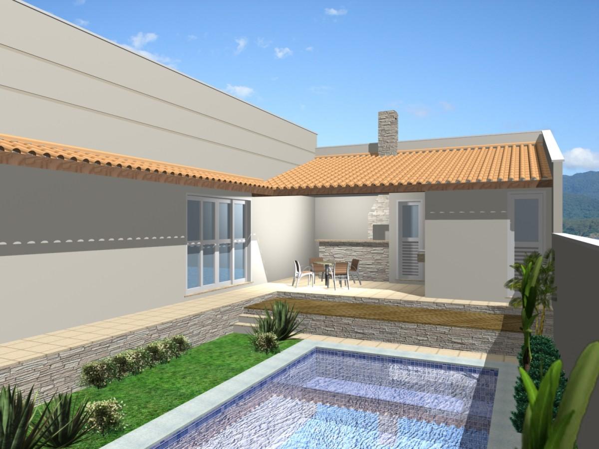 projeto 180 metros casa formato u terreno 12x30 declive