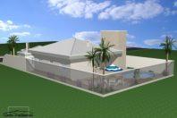 projeto 180 metros casa térrea telhado tégula terreno esquina cul de sac 12×30 condomínio santa olivia araras sp arquiteto arquiteta