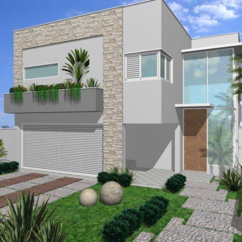 Casas modernas com jardim na frente caso voc pretenda for Casas en ele modernas