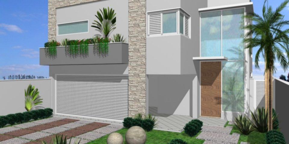 Projetos de casas arquitetura moderna e contempor nea for Frente casa moderna