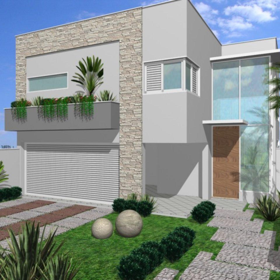 Projetos de casas arquitetura moderna e contempor nea for Modelos de fachadas para frentes de casas