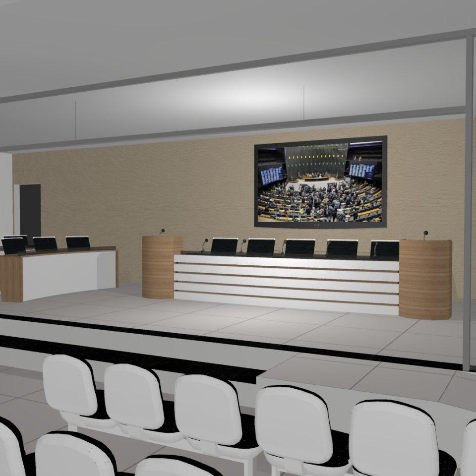 projeto arquitetura corporativa legislativo câmara municipal decoração escritório auditório sala reuniões plenária interiores arquiteto caio