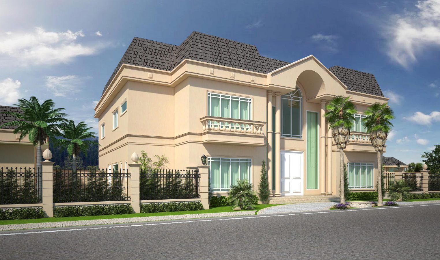 Projetos de casas cl ssicas com estilo americana e for Casa classica villa medici