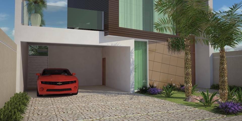 projeto casa moderna térrea mezanino volume fachada quadrado formato u condomínio margarida holstein limeira arquiteto spa e sauna