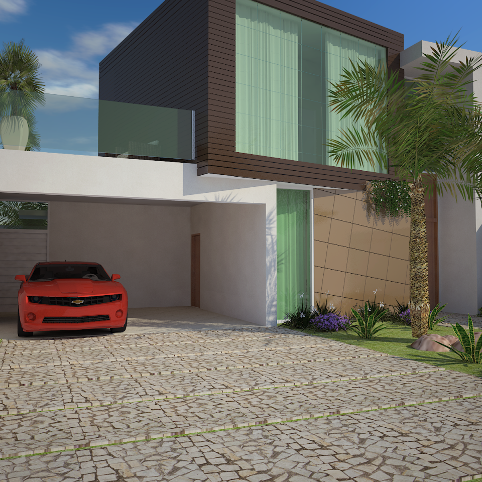 Projetos de casas arquitetura moderna e contempor nea for Casa modernas 2016