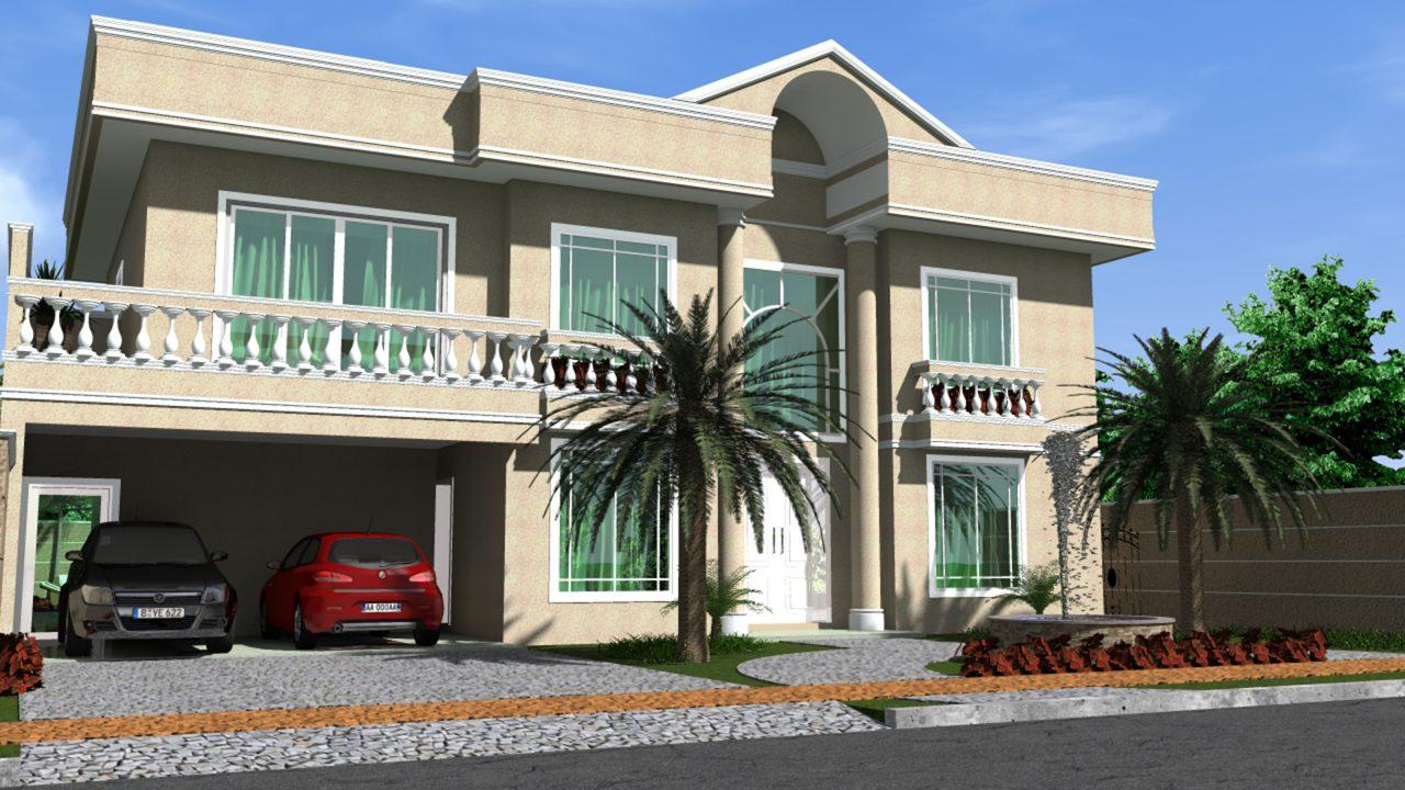Projeto casa sobrado arquitetura cl ssica fachada for Casa classica moderna