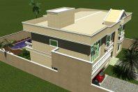 projeto casa sobrado arquitetura clássica fachada neoclássica pórtico terreno plano 15×25 construção 350m2 arquiteto Iracemápolis sp