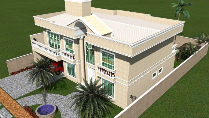 projeto casa sobrado arquitetura clássica fachada neoclássica pórtico terreno plano 15x25 construção 350m2 arquiteto Iracemápolis sp
