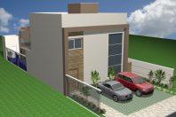 projeto casa tipo loft compacta sobrado alto padrão 120m2 terreno 10×25 condomínio limeira terras são bento