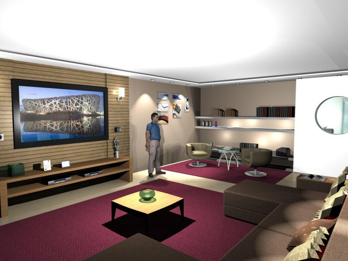 Projeto Design Interiores Decoração Sala Living Home Theater Arquiteta Rio  De Janeiro Apartamento Alto Padrão Barra