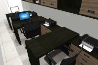 projeto moveis sala trabalho 03 estacoes arquitetura interiores corporativo decoração escritório
