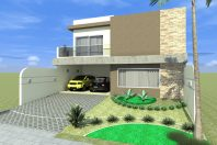 projeto planta arquitetura construção casa alto padrao 10×25 condomínio roland fachada reta quadrada arquiteto limeira