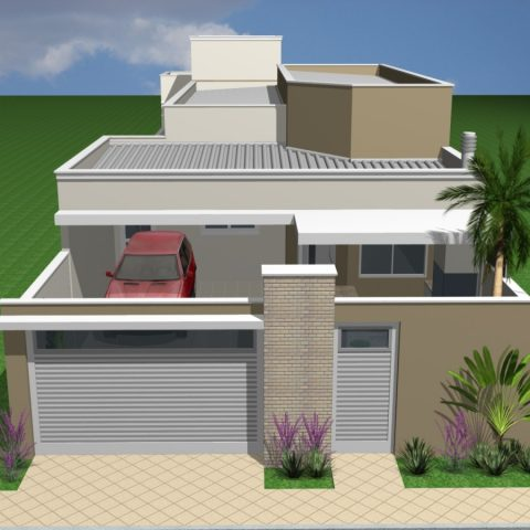Projetos de arquitetura residencial campinas plantas de for Casa moderna 8x20