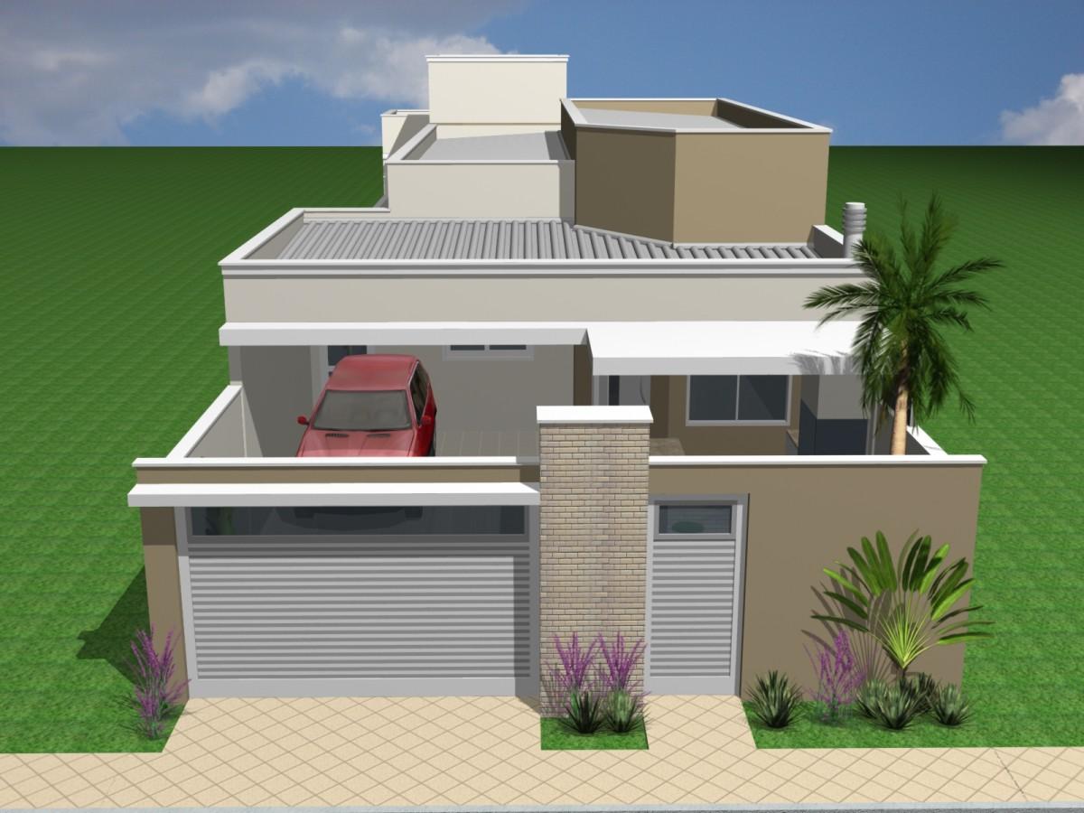 Projeto Planta Casa T Rrea 150 Metros Terreno 8x20 Telhado