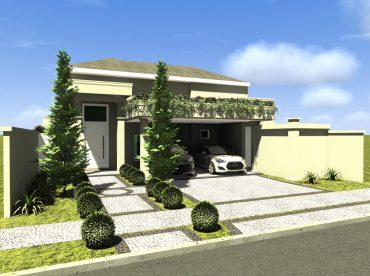 Projeto Casa Clássica Arquitetura Estilo Americano Estados Unidos construída no Brasil em Condomínio Fechado na região de Campinas