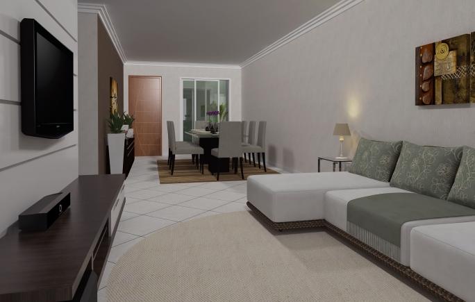 Projetos de casas t rreas em condom nio arquitetura for Casa moderna 8x20