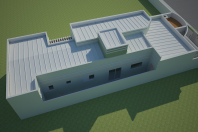 projeto planta casa térrea terreno 8×20 lazer integrado arquitetura moderna arquiteto caio pelisson