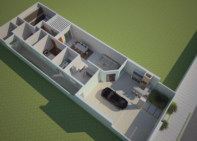 Projetos de casas t rreas em condom nio arquitetura for Casa moderna 10 x 20