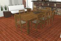 projeto reforma área lazer rustica chácara casa campo arquitetura campestre piso ceramica cru tijolinho