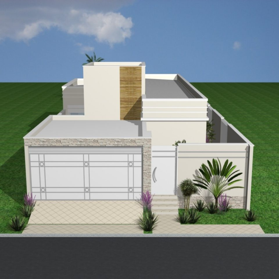 Projetos arquitetura de interiores campinas design de for Fachada casa moderna