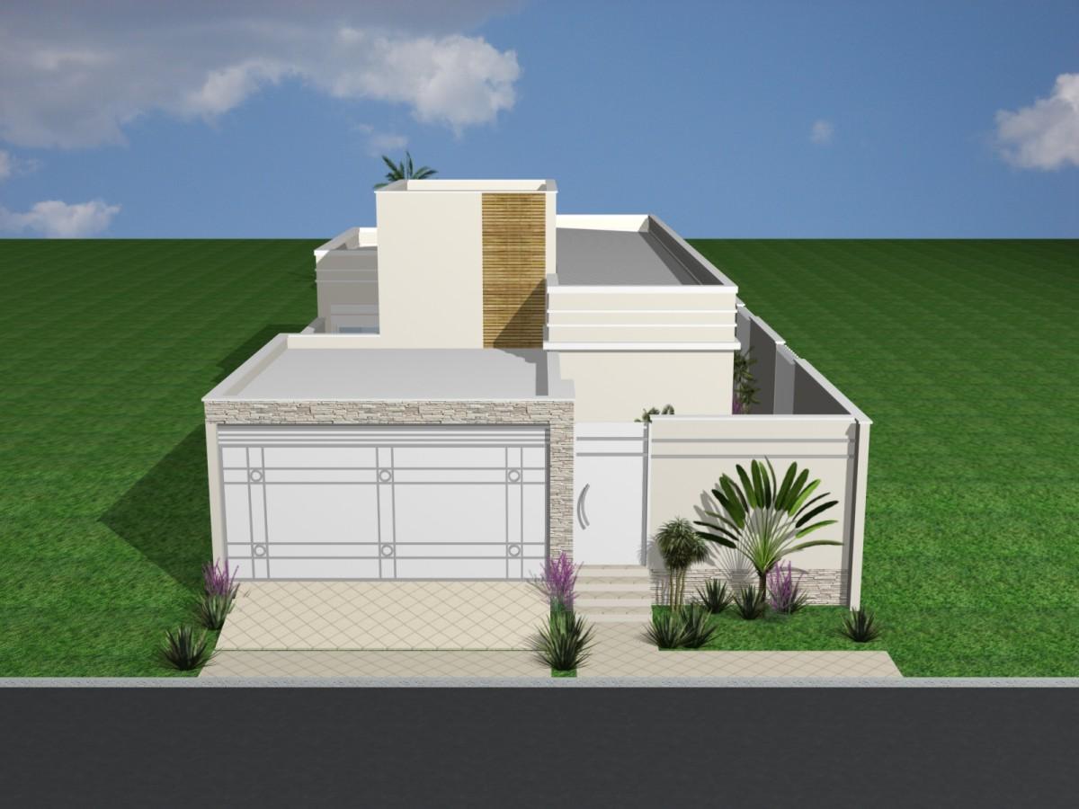Projeto reforma casa t rrea terreno 10 frente por 25 10x25 for Frente casa moderna